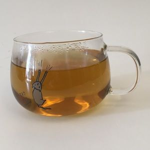 "Dining - Coffee tea mug ""bad cat' glass 12oz"